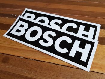 "Bosch White on Black Oblong Stickers - 16"" or 19"" Pair"