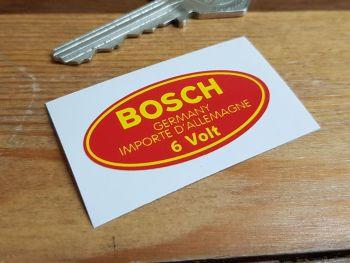 "Bosch Germany Importe D'Allemagne 6 Volt Coil Sticker. 2""."