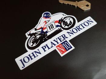 "John Player Norton JPN No.10 Racer Peter Williams  Sticker 6"""