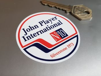 John Player International No.10 Silverstone 1973 Sticker 2.5""