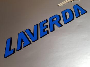 """Laverda Blue & Black Atlas OR600 Tank Stickers - 7.5"""" Pair"""