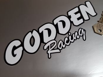 "Godden Racing Text Stickers 8"" Pair"