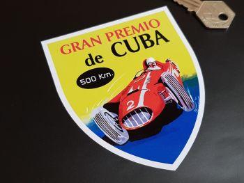 "Cuban Grand Prix - Gran Premio de Cuba 500km Sticker 4"""
