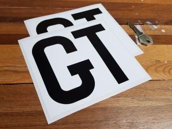 """Race Car 'GT' Class Oblong Stickers 6"""" Pair"""