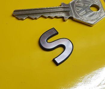 S Mini Morris Cooper Style Self Adhesive Boot Style Badge