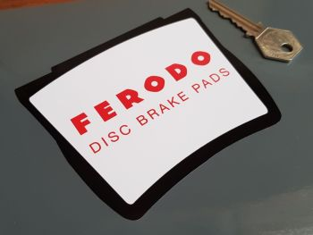 "Ferodo Disc Brake Pads Shaped Stickers - Close Cut - 4.5"" Pair"