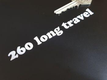 "Bultaco 260 Long Travel Cut Vinyl Stickers 4.75"" Pair"