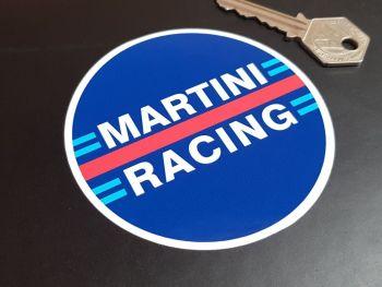 "Martini Racing Circular Stickers 3.5"" Pair"