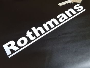 "Rothmans Cut Text Stickers 8"" Pair"