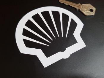 "Shell Modern Logo Cut Vinyl Stickers 4"" Pair"