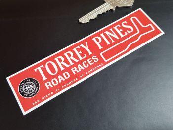 """Torrey Pines Road Races SCCA Sticker 5.5"""""""