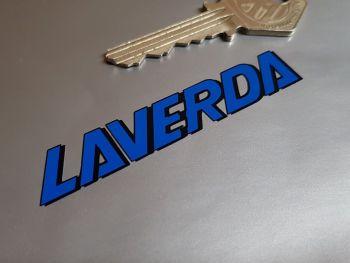 "Laverda Blue & Black Atlas OR600 Headlight Cover Stickers - 3"" Pair"