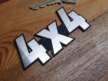 """4x4 Laser Cut Self Adhesive Car Badge 3.25"""""""