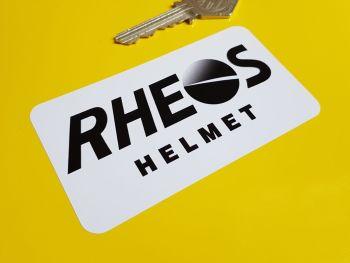 """Rheos Helmet Oblong Sticker - White Background - 4"""""""