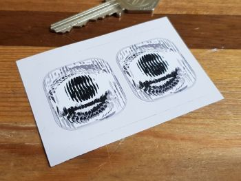 Pedal Tractor Car False Headlamp Square Style Stickers 31mm Pair