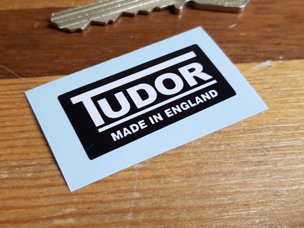 Tudor Made in England Windscreen Washer Sticker 40mm x 18mm