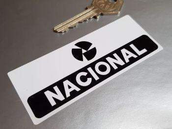 "Nacional Crash Helmet Sticker - Oblong - 4"""