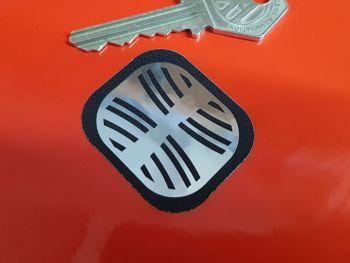 "Massey Ferguson Grill Badge Pedal Tractor Sticker 1.5"""