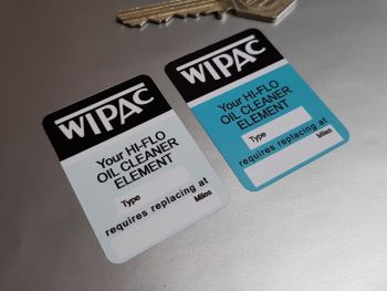Wipac Hi-Flo Oil Cleaner Element Sticker 1.5""