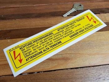 """Porsche High Voltage Sticker 964.701.163.00 - 8"""""""
