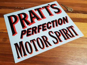 "Pratt's Perfection Motor Spirit Cut Vinyl Sticker 9"""