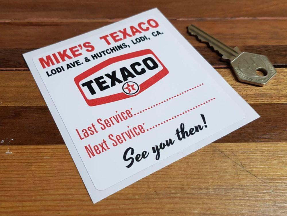 Mike's Texaco Lodi Ave. California Service Sticker. 3.75