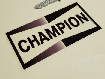 """Champion Black & Clear Stickers 4"""" Pair"""