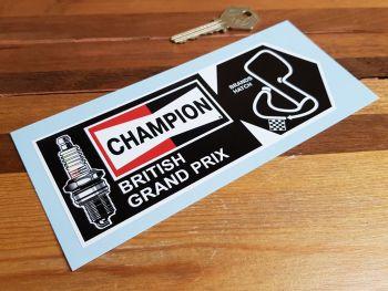 """Champion British Grand Prix Brands Hatch Sticker 6.5"""""""