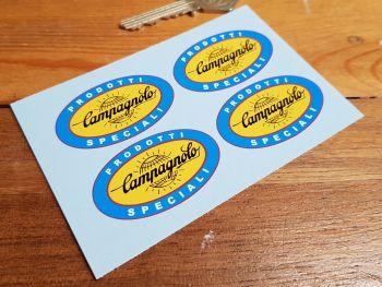 """Campagnolo Prodotti Speciali Black Globe Oval Stickers. Set of 4. 1"""" or 2""""."""