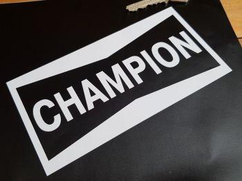 "Champion Cut Vinyl Oblong Stickers 6"" Pair"