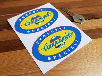 """Campagnolo Prodotti Speciali Oval Stickers 4"""" Pair"""