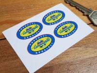 Campagnolo Prodotti Speciali Coloured Globe Oval Stickers. 30mm Set of 4.