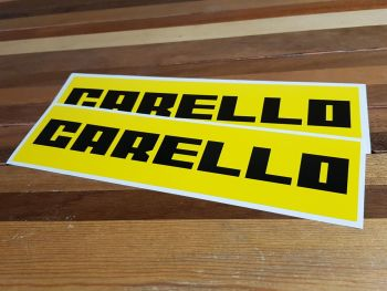 "Carello Oblong Stickers. 14"" Pair."