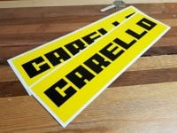 """Carello Oblong Stickers. 4"""", 6"""", 10"""", or 12"""" Pair."""
