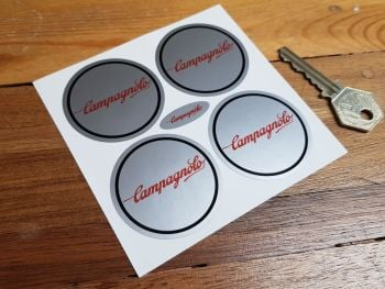 Campagnolo Wheel Centre Stickers. 50mm or 55mm. Set of 4.