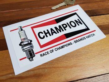 "Champion Race of Champions - Brands Hatch Sticker. 6.5""."