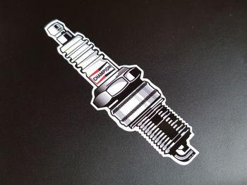 "Champion Shaped Spark Plug Modern Sticker 39.5"""