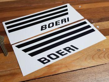"Boeri Helmet Text and Side Stripes Sticker Set - Style A/MK 4 - 8"" Pair"