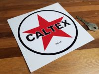 Caltex Petrolania Petrol Pump Sticker. 8.5