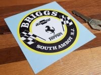 Briggs South Amboy New Jersey Old Style Round Sticker. 4