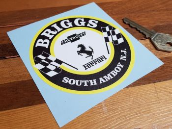 """Briggs South Amboy New Jersey Old Style Round Sticker. 4"""" or 8""""."""