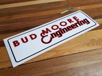 "Bud Moore Engineering Oblong Sticker. 12""."