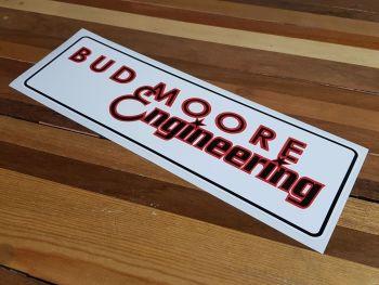 "Bud Moore Engineering Oblong Sticker. 16""."