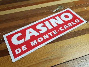 """Casino De Monte-Carlo Monaco Sponsors Sticker. 12""""."""