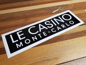 """Le Casino De Monte-Carlo Black & White Monaco Sponsors Sticker. 12""""."""