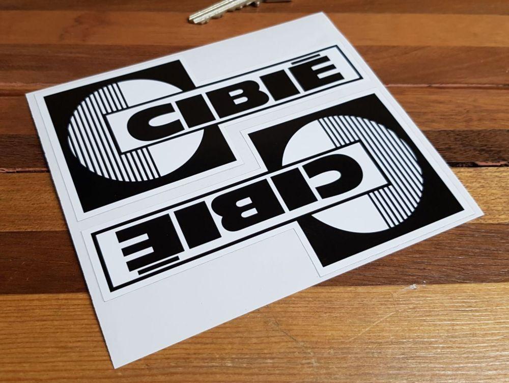 Cibie Black & White Spotlamp Stickers. 5.5
