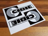 Cibie Black & White Spotlamp Stickers. 5.5