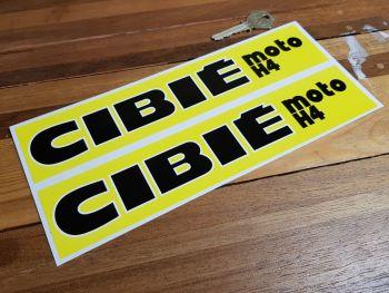 "Cibie Moto H4 Style 1 Stickers. 10"" Pair."