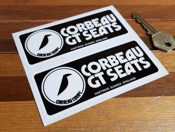 "Corbeau GT Seats Oblong Stickers. 4.5"" Pair."