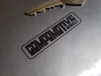 Compomotive Wheels Black & Clear Rim Stickers - Set of 4 - 60mm